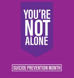 World suicide prevention day september 10 design vector