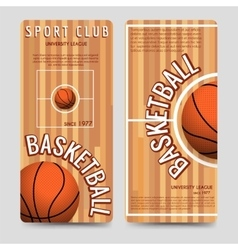 Basketball sport club flyers template vector image vector image