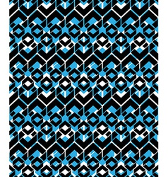 Black and blue stylized symmetric endless pattern vector image
