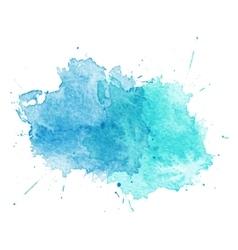Blue Watercolor splatters vector image vector image
