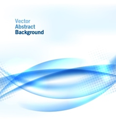 Blue wave background with halftone vector image