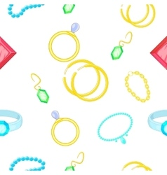 Costume jewellery pattern cartoon style vector image vector image