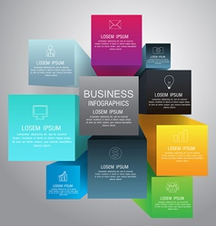 Cube box infographic for business concept with vector image