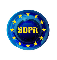 general data protection regulation gdpr vector image vector image