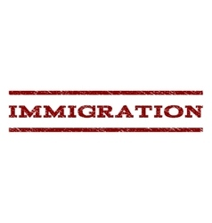 Immigration Watermark Stamp vector image vector image