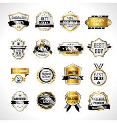 Luxury Labels Gold And Black vector image vector image