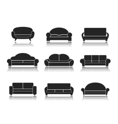 Modern Luxury Sofas and Couches vector image vector image
