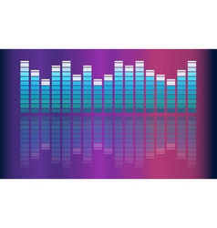 music volume abstract background vector image