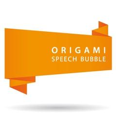 orange origami speech bubble vector image vector image