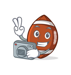 Photography american football character cartoon vector