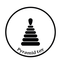 Pyramid toy icon vector image vector image