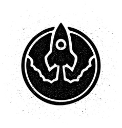 The rocket takes off logo symbol vector image