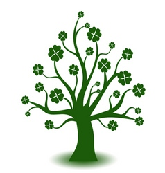 beautiful green art tree on white background vector image