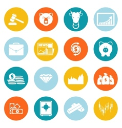 Finance exchange round icons vector image vector image