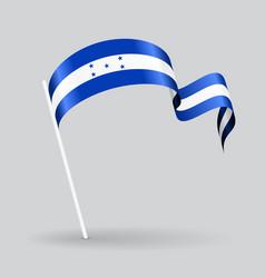 Honduras wavy flag vector