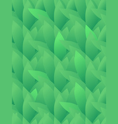 Seamless texture with green leaves in a row vector
