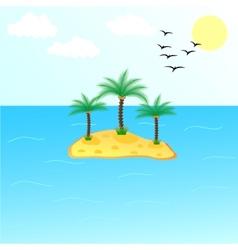 Uninhabited Island vector image vector image