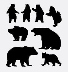 Bear wild animal silhouette vector