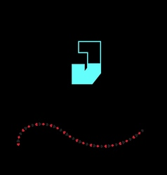 letter J-01 vector image