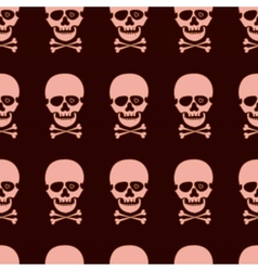 seamless pattern with rose skull vector image vector image