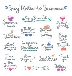 summer letterings vector image