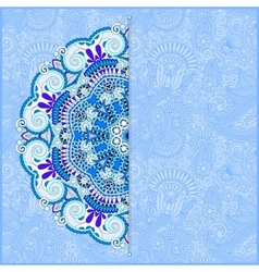 floral blue pattern in ukrainian oriental ethnic vector image