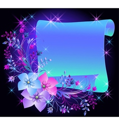 magic flowers vector image vector image