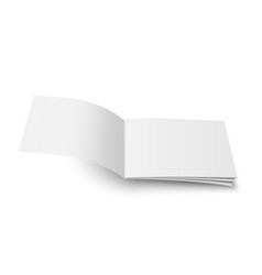 mock up of magazine white blank cover vector image