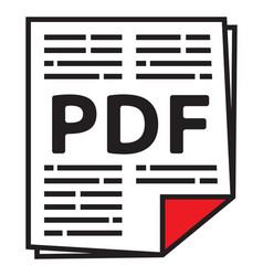 pdf file vector image