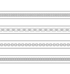 Set of chains web page dividers Contour lines vector image