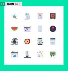 16 flat color concept for websites mobile vector