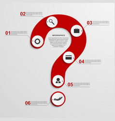 Abstract infographic in form question mark vector