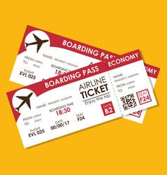 Airline ticket flight icon vector