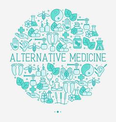 Alternative medicine concept in circle vector