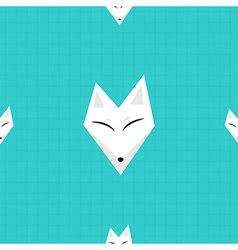 Arctic Fox Blue Background vector