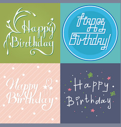 Beautiful birthday invitation card design colorful vector
