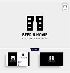 Beer glass movie wine cinema simple creative vector