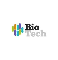 Biotech logo symbol biotechnology logotype vector image
