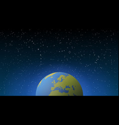 blue shining earth in space vector image
