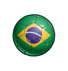 Brazilian flag football - soccer ball vector