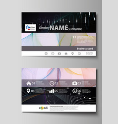 Business card templates easy editable vector