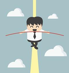 Business man balancing vector image