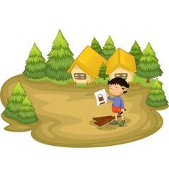 Carpenter in the woods vector