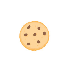Chocolate chip cookie icon vector