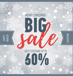 Christmas sale bannerbig sale 50holiday discount vector