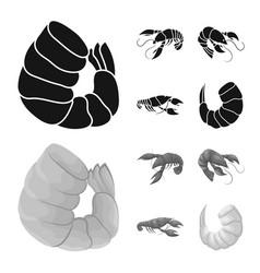 design of appetizer and ocean logo set of vector image
