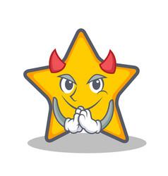 Devil star character cartoon style vector