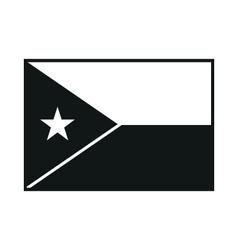 Djibouti flag monochrome on white background vector
