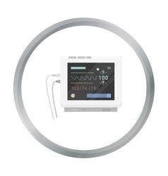 Ecg machine icon cartoon single medicine icon vector