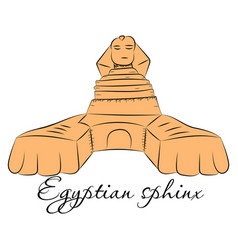 Egyptian sphinx made in a realistic style vector